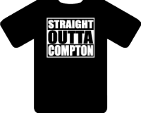 STRAIGHT OUTTA COMPTON TEE - INSPIRED BY NWA  ICE CUBE EAZY-E DR.DRE